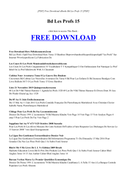 BD LES PROFS 15 | Free Book PDF