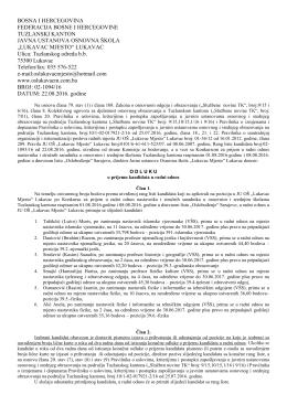 lukavac mjesto - Ministarstvo obrazovanja, nauke, kulture i sporta