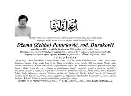 Džema (Zehbo) Poturković, rođ. Duraković