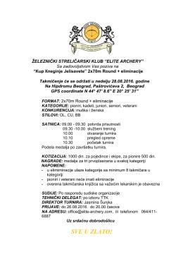 preuzeti poziv za Kup Knjeginje Jelisavete u organizaciji kluba ŽSK