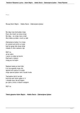 Asim Bajric - Adela Secic - Zabranjena ljubav