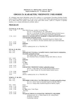 Program - Filozofski fakultet družbe Isusove