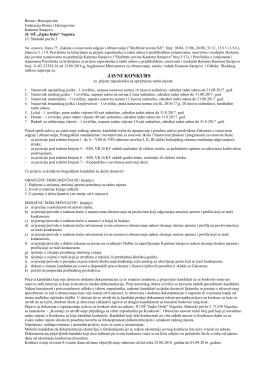 javni konkurs - Ministarstvo za obrazovanje, nauku i mlade Kantona