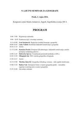Program 9. ljetnog seminara