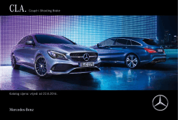 Preuzmite cjenik za CLA Shooting Brake  - Mercedes-Benz