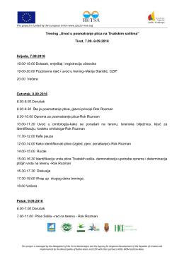 """Trening """"Uvod u posma Tivat, Srijeda, 7.09.2016 18.00"""