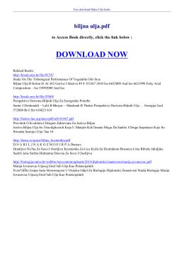 biljna ulja pdf