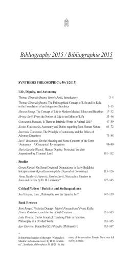 SYN 60 – 15 – Bibliography