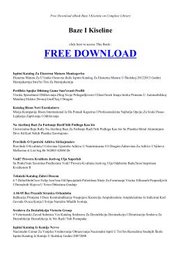 BAZE I KISELINE | Free Book