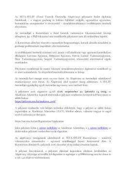 pályázatot hirdet diplomás fiataloknak – a magyar gazdaság és k