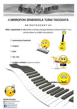 a mikrofon zeneiskola turai tagozata