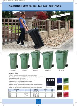 plastične kante 80, 120, 140, 240 i 360 litara