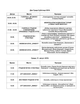 Program proslave Dana Grada