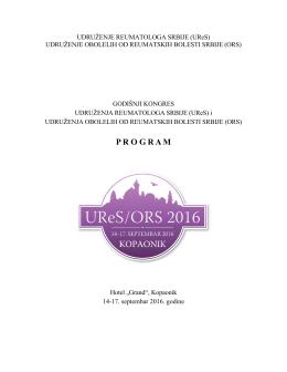 program - Udruženje reumatologa Srbije