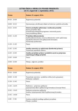 Program škole - Poslovni fakultet Valjevo