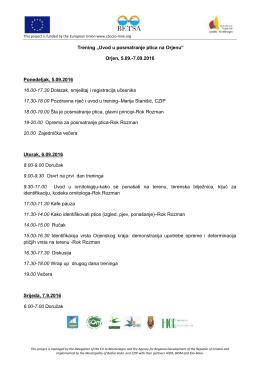 """Trening """"Uvod u p Orjen, Ponedeljak, 5.09.2016 16.00"""