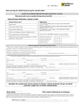 zp/pp/pr/3 zahtev za otvaranje preduzetnik paketa proizvoda i usluga