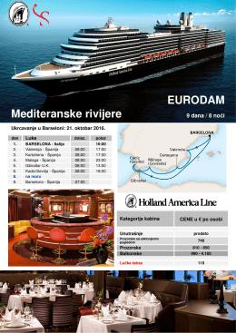 EURODAM Mediteranske rivijere