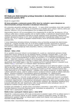 EÚ žiada pre diskriminačný prístup Kolumbie k