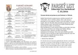 Farský list 35/2016