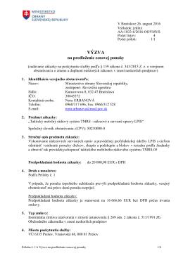 Akvizičná agentúra Bratislava - Taktický mobilný rádiový systém T