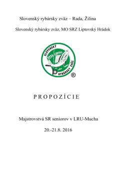 MSR seniori 2016 - Liptovský Hrádok - LRU