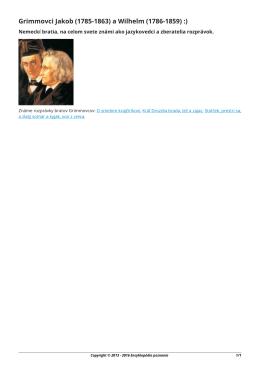 Grimmovci Jakob (1785-1863) a Wilhelm (1786