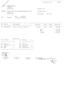Page 1 I1INERÄLNE VQUY Slovenská 9 ,) . 081 86 Prešov Pr
