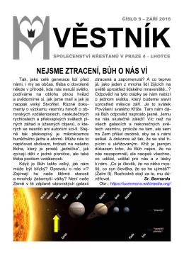 Věstník č. 9/2016 - Panny Marie Královny míru
