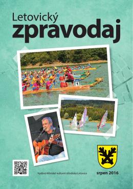 LZ - srpen 2016 - Městské kulturní středisko Letovice