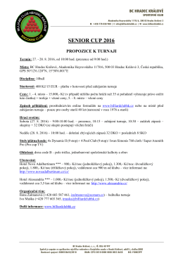 senior cup 2016 – propozice