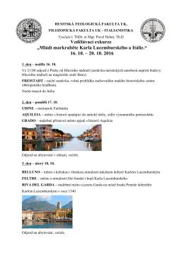 Návod na přihlášení, podrobný program a témata referátů ke stažení