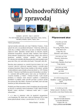 září 2016 - Dolní Dvořiště