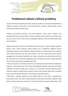 Problémové oblasti a klíčové problémy