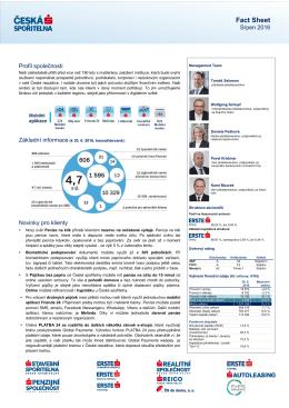 Fact Sheet - Česká spořitelna