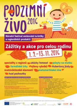 Program festivalu podzimní ŽIVO 2016 ke stažení