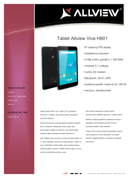 Tablet Allview Viva H801