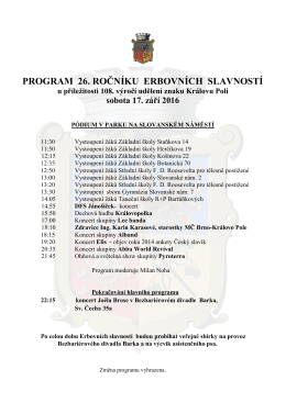 program ES 2016 - Královo Pole