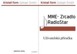 Uživatelská příručka - Kristall Form Spiegel GmbH