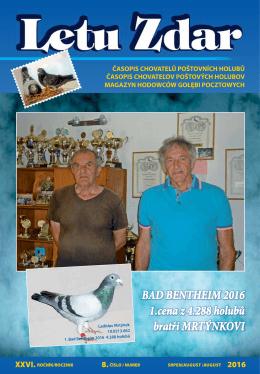 BAD BENTHEIM 2016 1.cena z 4.288 holubů bratři MRTÝNKOVI