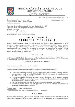 Rozhodnutí - Bohuňovice