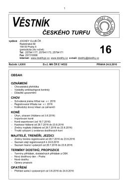 Věstník ČT 16 - 2016