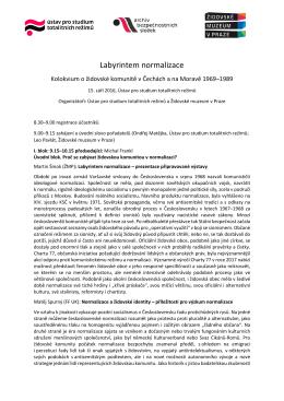Program kolokvia Labyrintem normalizace