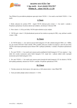 Rozpis soutěže ČBF