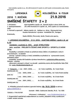 Propozice K- Tour Lipenské koloběžky 2016