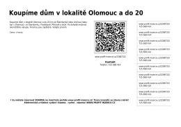 Koupíme dům v lokalitě Olomouc a do 20 - Profit