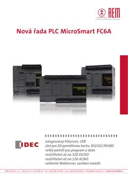 Nová řada PLC MicroSmart FC6A - REM