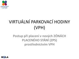 návod pro platbu při použití VPH