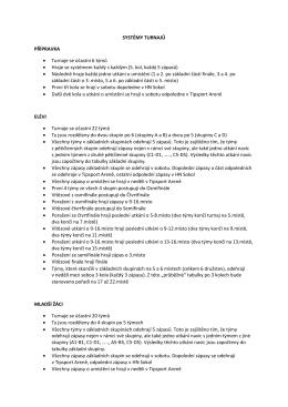 systémy turnajů junior sokol cup 2016-2