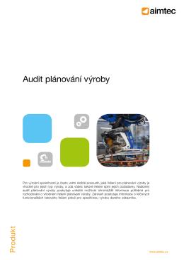 Audit plánování výroby